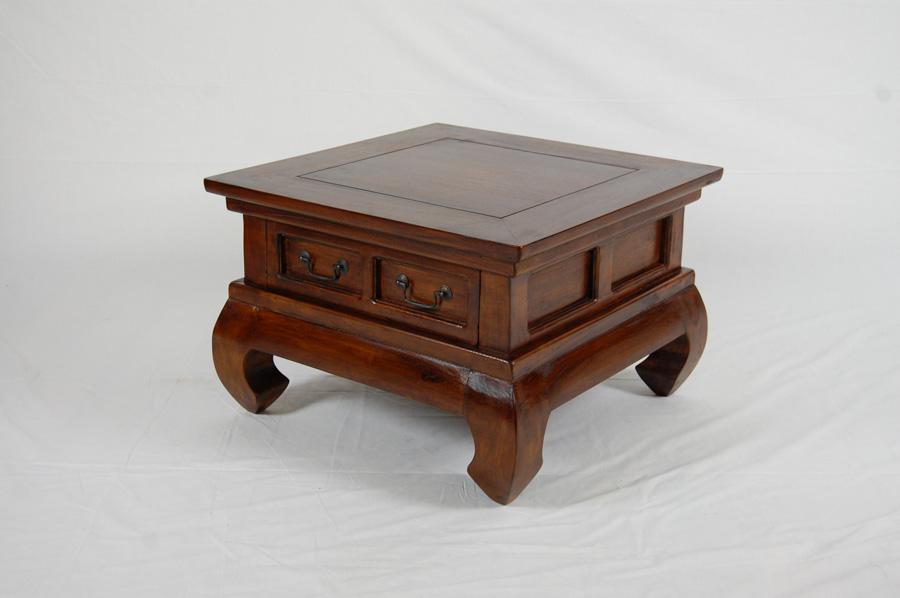 Java 1 drawer 60cm opium coffee table medium villa and hut for Coffee table 60cm