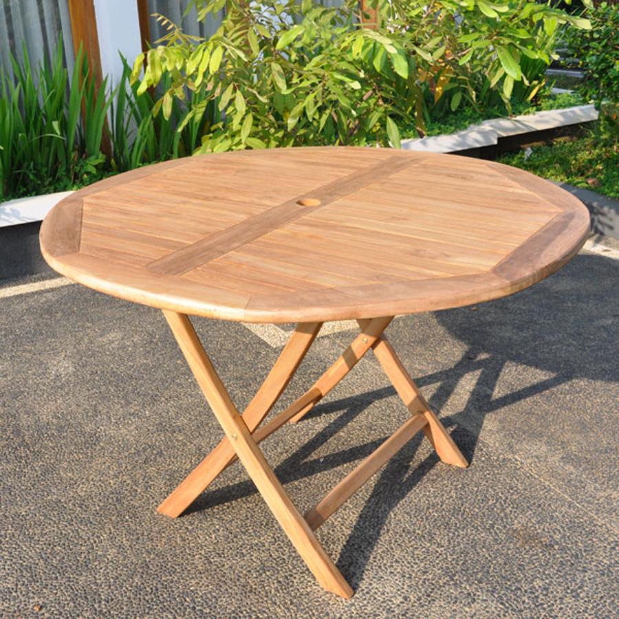 Teak Round Table and Hanton Chair Set 1 2m Villa and Hut