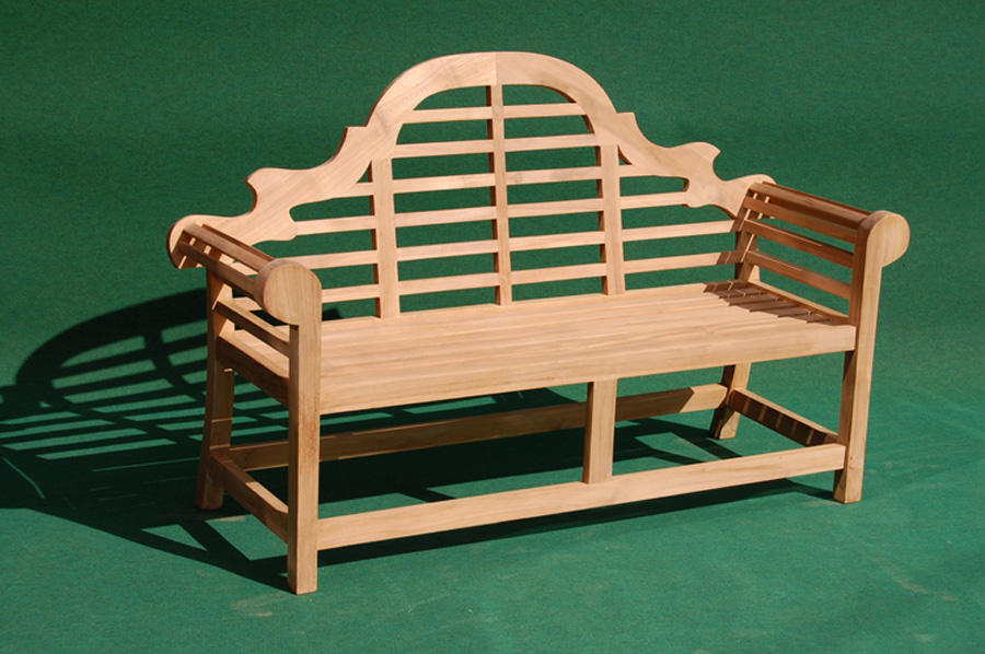 Teak Lutyens Three Seater Bench Villa And Hut