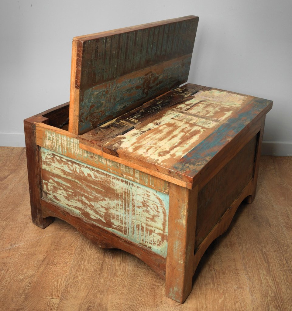 Reclaimed coffee table trunk 80cm villa and hut for Coffee table 80cm x 80cm